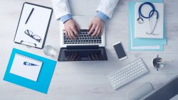 Clinician managing opioid addiction treatment